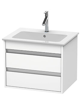 Ketho 2 Drawer Wall-mounted Vanity Unit For ME By Starck Basin