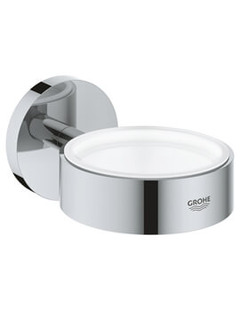Essentials Chrome Glass Soap Dish Holder - 40369001