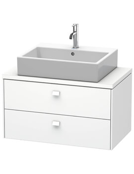 Brioso 2 Drawer 820mm Compact Vanity Unit For Console