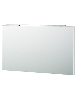 London 120 White Framed Mirror