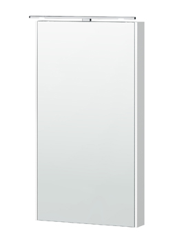 London 40 White Framed Mirror