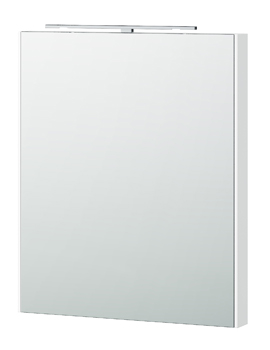 London 60 White Framed Mirror