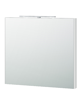 London 80 White Framed Mirror