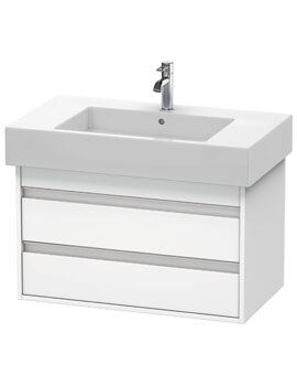 Ketho 455mm Depth Wall Mounted 2 Drawer Vanity Unit