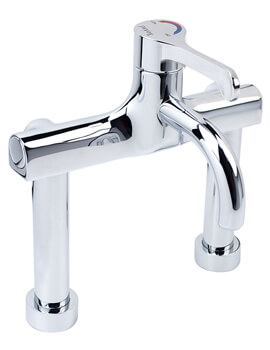 Twyford Sola Deck Mounted Thermostatic Surgeons Mixer Lever Tap