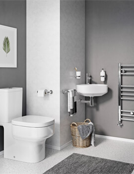 Crosswater Kai S 420mm Wide Corner Basin With 1 Taphole
