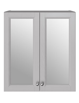 Caversham Dove Grey 600mm Mirror Wall Unit