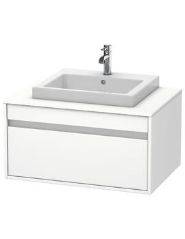 Ketho 550mm Depth Wall Mounted Single Drawer Unit For Vanity Basin Central