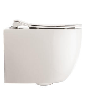 Crosswater Glide II Gloss White Wall Hung Short Projection Rimless Toilet