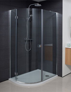 Crosswater Design Plus Quadrant Single Door Shower Enclosure - Image