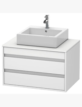 Ketho 550mm Depth Wall Mounted 2 Drawer Unit For Above Counter Basin