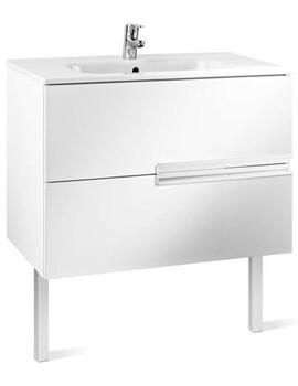 Victoria Basic 600 x 460 Gloss White 2 Drawers Vanity Unit