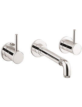 MPRO Industrial Wall Mounted 3 Hole Basin Tap
