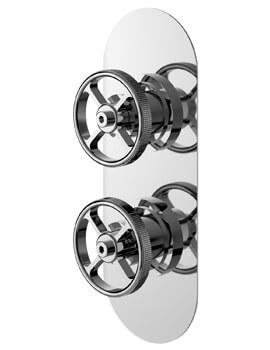Revolution Industrial Twin Shower Valve Chrome