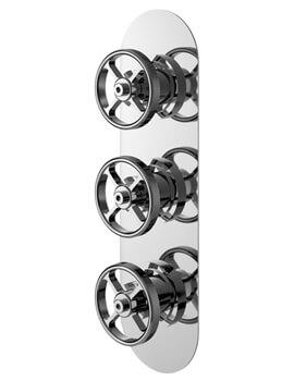 Revolution Industrial Triple Shower Valve Chrome