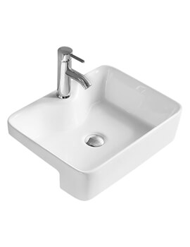 Vessel 480 x 370mm Rectangular Semi-Recessed Basin