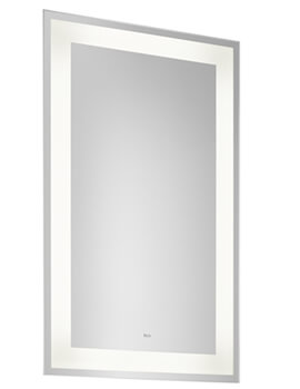 Roca Iridia Portrait Mirror With Perimetral Led Lighting And Demister Devise