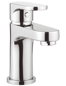 Crosswater Style Deck Mounted Monobloc Basin Mixer Tap With Click Clack Waste