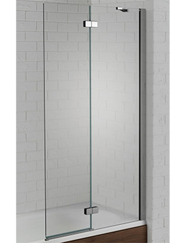 Aquadart Venturi 6 900 x 1500mm Hinged Bath Screen