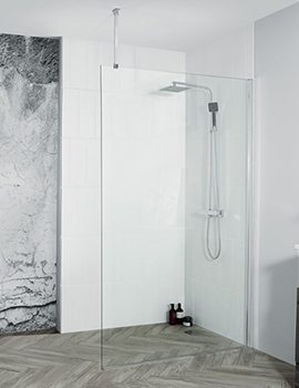 Aquadart Wetroom 8 Walk-In Shower Glass Panel