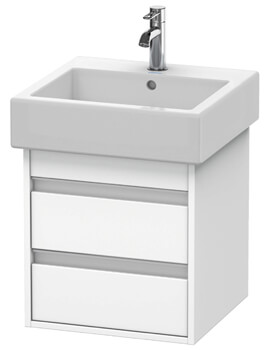 Ketho 440mm Depth 2 Drawer Wall Mounted Vanity Unit