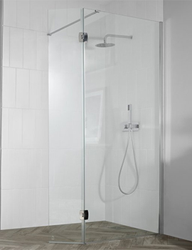 Aquadart Wetroom 8 1200mm Wetroom Glass Panel With Return Panel