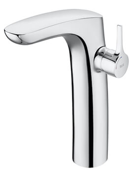 Roca Insignia Extended Height Basin Mixer Tap With Smooth Body