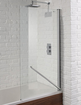 Aquadart Venturi 6 800 x 1400mm Swiftseal Single Bath Screen