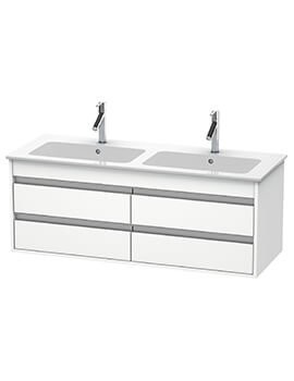 Ketho 1270 x 475mm Wall Mounted 4 Drawer Vanity Unit