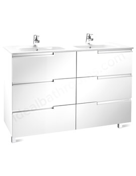 Victoria-N 1200mm Gloss White Vanity Unit With 6 Drawer