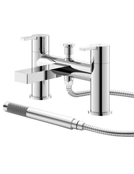 Willow Deck Mounted Bath Shower Mixer Tap With Kit