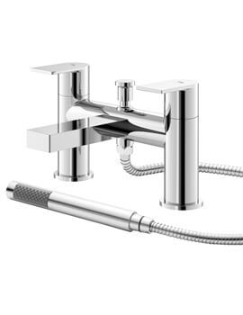 Sottile Deck Mounted Bath Shower Mixer Tap With Kit
