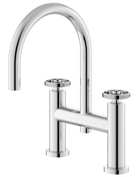 Revolution Industrial Deck Mounted Bath Filler Tap Chrome
