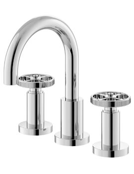 Revolution Industrial 3 Tap Hole Deck Mounted Basin Mixer Tap