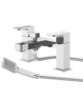 Astra Deck Mounted Bath Shower Mixer Tap With Kit