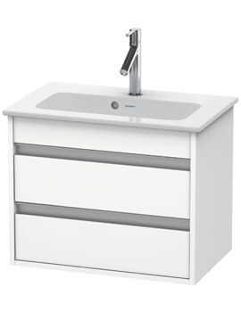 385mm Depth Wall Mounted 2 Drawer Vanity Unit With Basin
