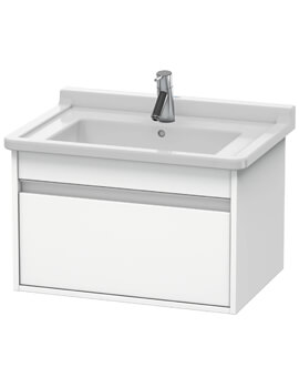 Ketho 465mm Depth Wall Mounted 1 Pull Out Compartment Vanity Unit