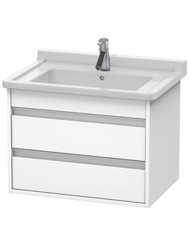 Ketho 465mm Depth Wall Mounted 2 Drawer Vanity Unit