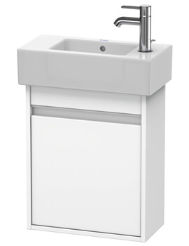Ketho 450 x 225mm Wall Mounted 1 Door Vanity Unit