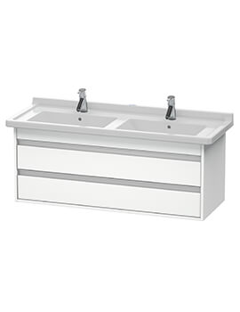 Ketho 1200 x 465mm Wall Mounted 2 Drawer Vanity Unit