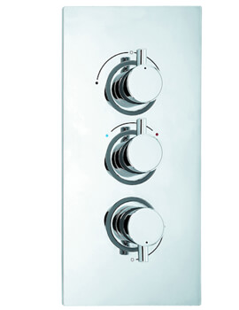 Roca Tajo-T Square Thermostatic Built in Shower mixer Valve