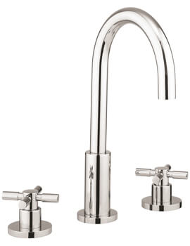 Totti II 3 Hole Deck Mounted Basin Tap With Pop Up Waste