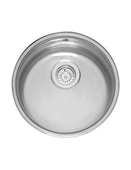 412mm Diameter Single Round Bowl Integrated Kitchen Sink