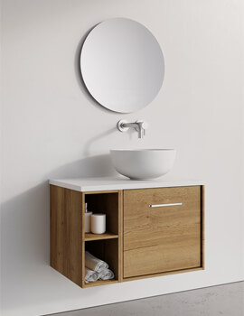 Infinity 500mm Wide Wall Mounted Vanity Unit With Base Unit