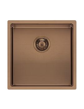 Reginox Miami 440 x 440mm Single Bowl Kitchen Sink Copper Finish