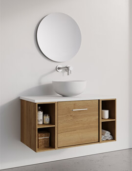 Infinity 500mm Wide Wall Mounted Vanity Unit With Double Base Unit