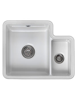 Reginox Tuscany 1.5 Bowl Ceramic Undermount Sink 440 x 545mm - Image