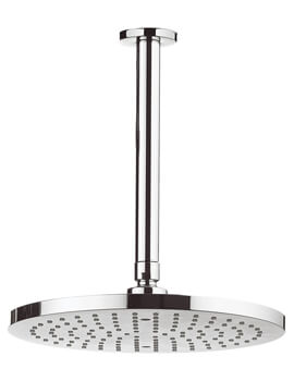 Fusion 250mm Round Fixed Shower Head with 200mm Ceiling Arm