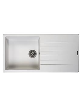 Reginox Harlem 10 Single Bowl Inset Granite Kitchen Sink 1000 x 500mm