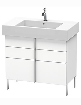 Vero Air 446mm Depth Floor Standing 2 Drawers Vanity Unit And Basin